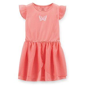 Carter's Girl Butterfly Nightgown Size 4 5